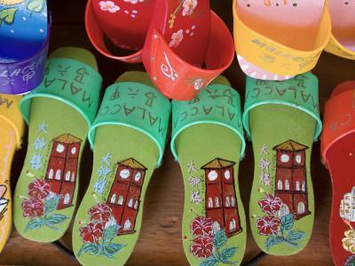 Sandals for Sale in Chinatown, Melaka, Malaysia-Peter Adams-Photographic Print