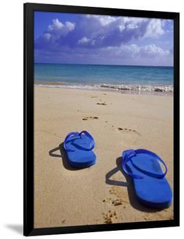 Sandals on Shore, HI-Tomas del Amo-Framed Premium Photographic Print
