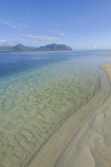 Sandbar, Kaneohe Bay, Oahu, Hawaii-Douglas Peebles-Photographic Print