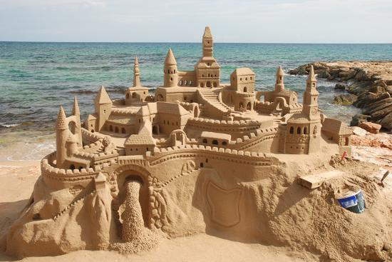 Sandcastle on the Beach-p.lange-Art Print