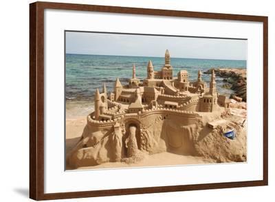 Sandcastle on the Beach-p.lange-Framed Art Print