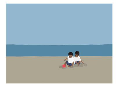Sandcastle-Jorey Hurley-Art Print