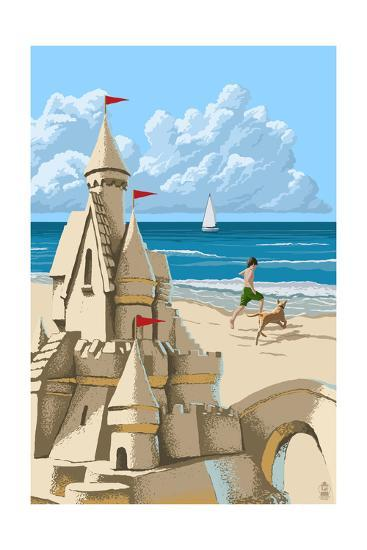 Sandcastle-Lantern Press-Art Print
