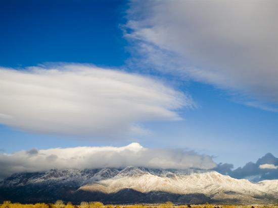 Tops of the Sandia Mountains Which Form the Eastern