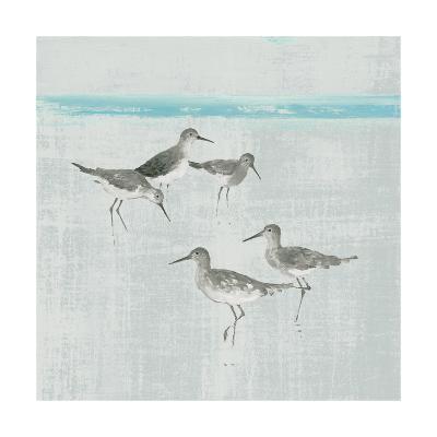 Sandpipers Square I Gray-Avery Tillmon-Art Print