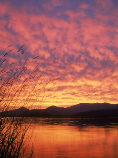 Sandpoint, Id, Sunset on Lake-Mark Gibson-Photographic Print