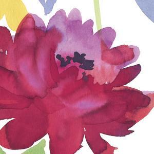 Crimson Flower I by Sandra Jacobs