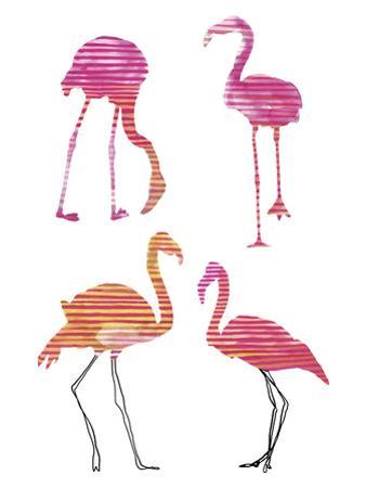 Flamingo Fandango II by Sandra Jacobs