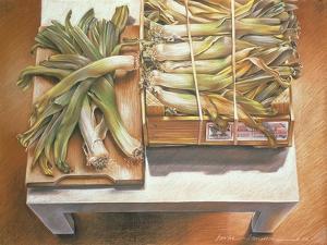 Leeks, 1980 by Sandra Lawrence