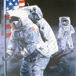 One Small Step for Man- One giant leap for Mankind, 1975 by Sandra Lawrence