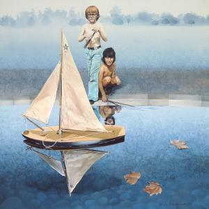 The Round Pond, 1975 by Sandra Lawrence