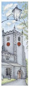 St Oswald's Church Clock, Warton, Lancashire, 2009 by Sandra Moore