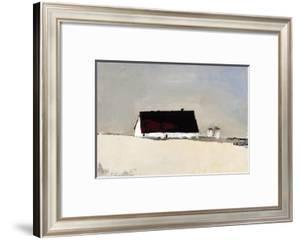 Big Barn and Silos by Sandra Pratt