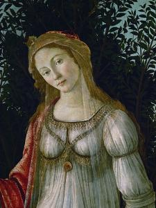 A Woman, Central Figure, Detail from Primavera by Sandro Botticelli