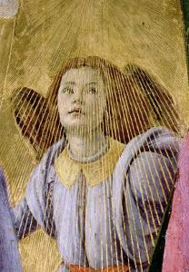 "Angel, from the ""Coronation of the Virgin,"" circa 1488-90 (Detail) by Sandro Botticelli"
