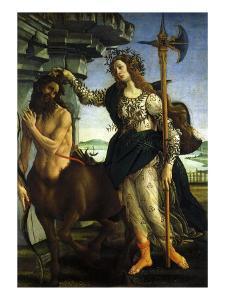 Athena and Centaur, 1482 by Sandro Botticelli