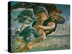 Birth of Venus, Detail: Mythological Couple by Sandro Botticelli