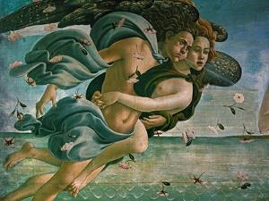 Birth of Venus, Detail: Mythological Couple by Sandro Botticelli