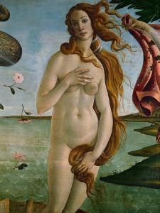 Birth of Venus (Detail of Venus), 1486, Tempera on Canvas by Sandro Botticelli