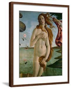 Birth of Venus (Detail of Venus), 1486, Tempera on Canvas by Sandro Botticelli