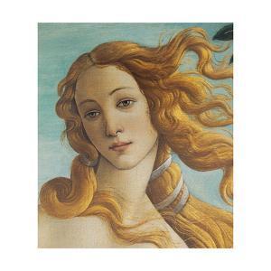 Birth of Venus, Head of Venus by Sandro Botticelli