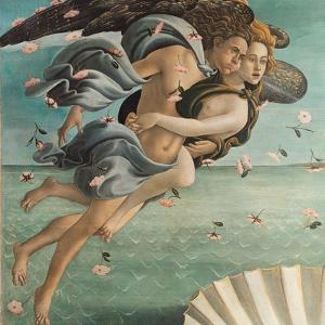 Birth of Venus, Zephyrus and Aura by Sandro Botticelli