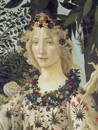"Detail from the Painting ""Primavera"": Head of Flora"