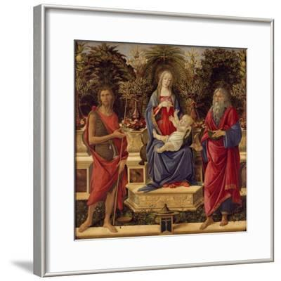 Enthroned Madonna with Child and Saints, 1485