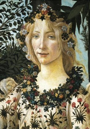 Figure of Flora, Detail of the Allegory of Spring, Ca 1477-1490