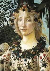 Figure of Flora, Detail of the Allegory of Spring, Ca 1477-1490 by Sandro Botticelli