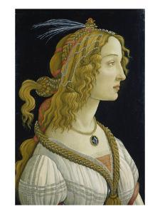 Idealized Portrait of a Lady (Allegedly Simonetta Vespucci), about 1480 by Sandro Botticelli