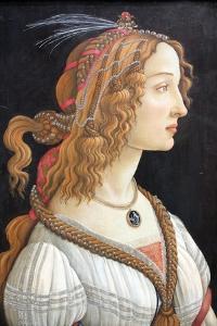 Idealized Portrait of a Lady (Portrait of Simonetta Vespucc), C. 1480 by Sandro Botticelli