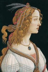 Idealized Portrait of a Lady (Portrait of Simonetta Vespucci as Nymph), 1480 by Sandro Botticelli