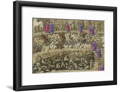 Illustration to the Divine Comedy by Dante Alighieri, 1480-1490