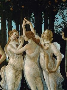 La Primavera, the Three Graces by Sandro Botticelli
