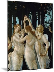 La Primavera, the Three Graces by Sandro Botticelli