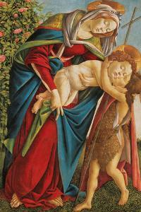 Madonna with Child Embracing the Young St John by Sandro Botticelli