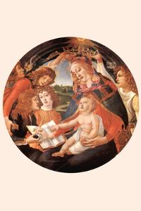 Maria with Christ Child and Five Angels by Sandro Botticelli