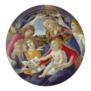 Mary with Child and Five Angels (Madonna Del Magnificat). Tondo, about 1481 by Sandro Botticelli
