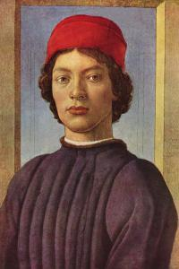 Portrait of a Young Man with Red Cap by Sandro Botticelli