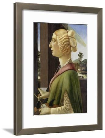 Portrait of a Young Woman with Attributes of St. Catherine, 1475-78