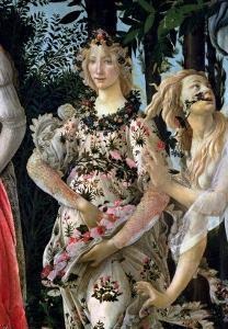 Primavera: Detail of Flora by Sandro Botticelli