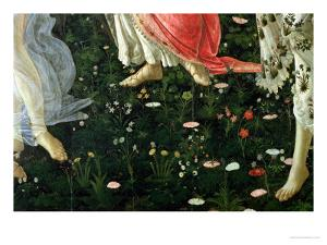 Primavera: Detail of Flowers by Sandro Botticelli