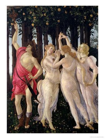 Primavera: Detail of the Three Graces and Mercury