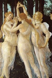 Primavera, Three Graces by Sandro Botticelli