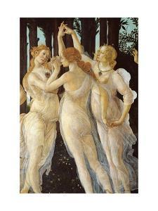 Primavera, Three Graces by Sandro Botticelli