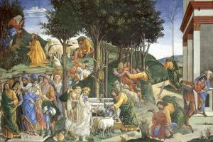 Scenes from the Life of Moses, 1481-1482 by Sandro Botticelli