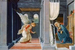 The Annunciation, C1485 by Sandro Botticelli