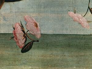 The Birth of Venus-Detail of Flower Blossoms by Sandro Botticelli