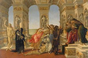 The Defamation of Apelles, 1494-95 by Sandro Botticelli